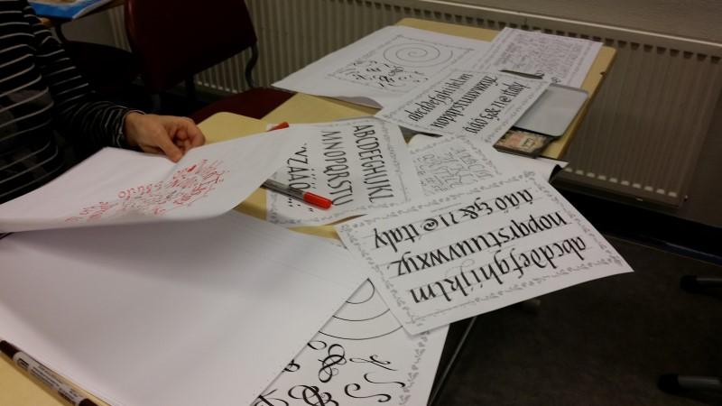 Kalligrafian perusteet - Harjoitus tekee mestarin